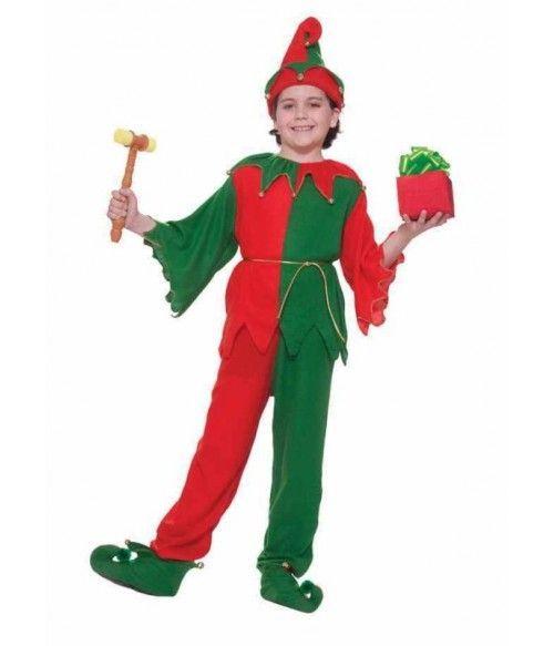 Costum serbare Craciun, Spiridus Elf Pitic, NOU, marime 3-4, 4-5, 5-6a