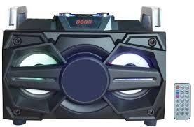 "Boxa Portabila cu BT, FM, USB, SD si Telecomanda , Difuzor 4"" x2"
