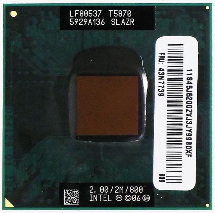 Procesor Laptop Intel Core 2 Duo 2GHz 800MHz SLAZR