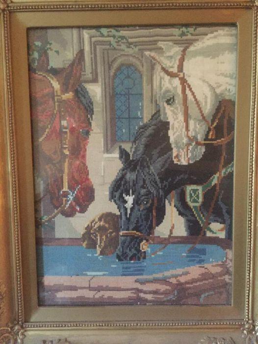 Гоблен коне на водопой