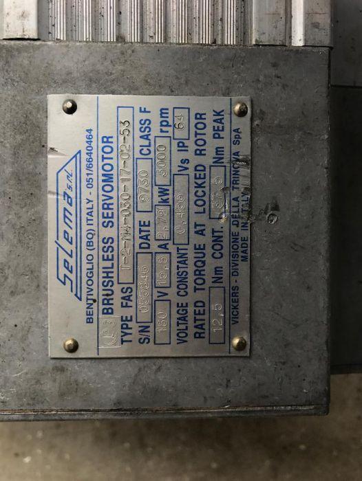VICKERS brushless servomotor SELEMA T-2-M4-030-17-02-53
