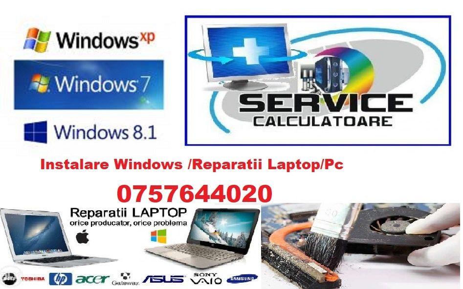 Instalare/reinstalare windows /sistem de operare /reparatii/ deplasare