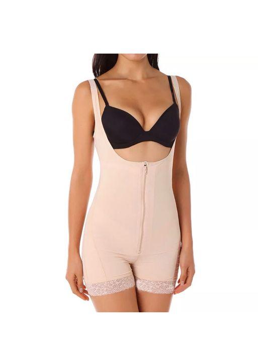 Lenjerie modelatoare corset pantalni costum Slabit bretele bej 4XL 5XL