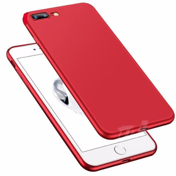 Husa Subtire 0.3mm Silicon Culoare Rosie - Iphone 6 6S+ 7 7+ 8 8+ X 10