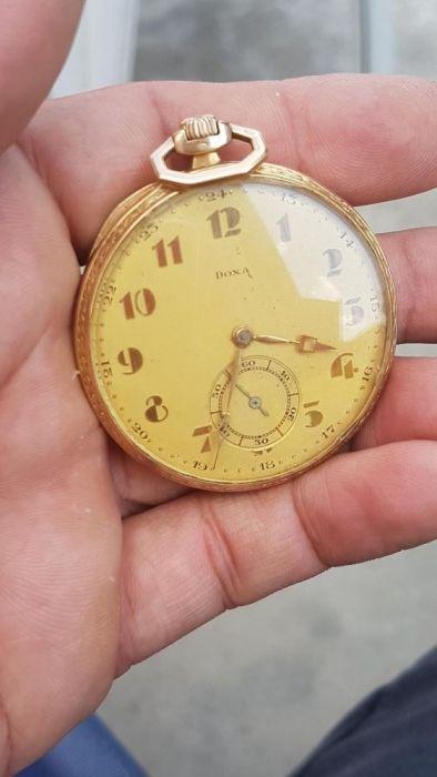 Antique Doxa de buzunar aur 14k ceas mare vechi