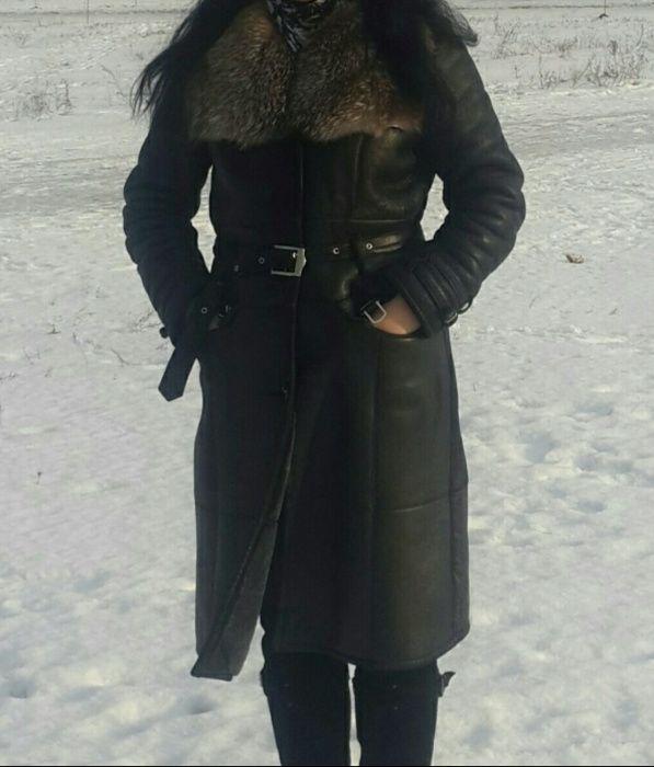 Палто от естествена кожа и естествен косъм
