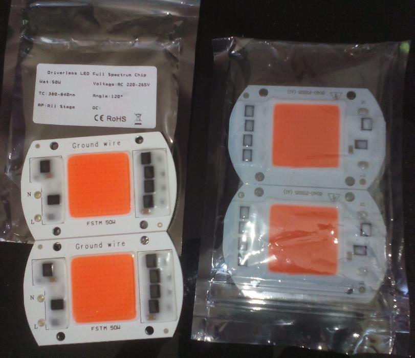 За оранжерии - LED Grow chip 50W 380-840nm, готови решения!Новият чип