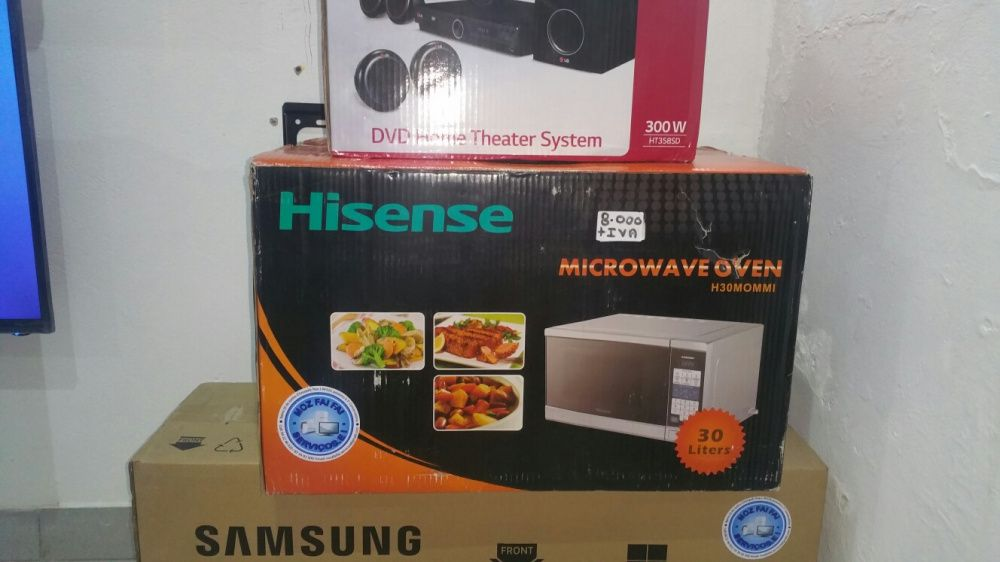 Microondas hisense 30L novos na caixa