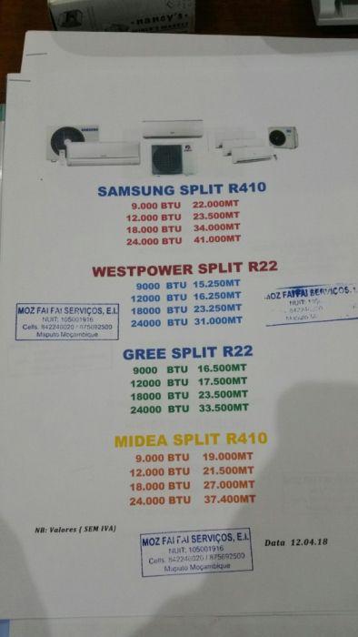 Ar condicionados novos na caixa com garantia 12 meses