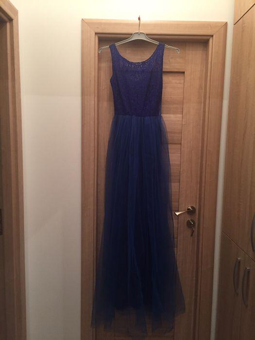 rochie lunga albastra 36/S