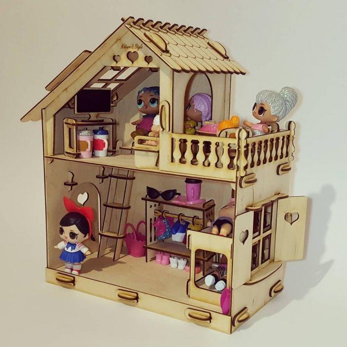 Домик 2х этажный с Мебелью для LOL Surprise (ЛОЛ) и Sylvanian Families