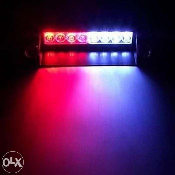 Lumini avertizare LED stroboscop rosu/albastru politie salvare +CADOU!