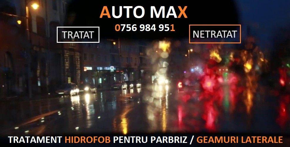TRATAMENT HIDROFOB Pentru Parbriz / Geamuri Laterale / Oglinzi