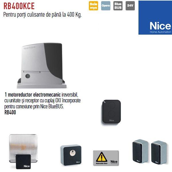 Automatizare poartă culisantă Nice ROBUS 400 kit complet **Super Pret