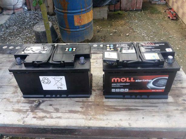 2 Acumulatori 12 V - AGM ( START-STOP) 70-80 AH.și trei barerii normal