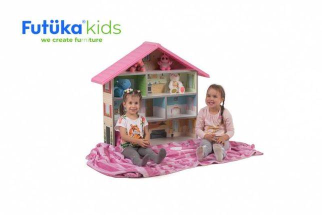 Кукольный домик для девочек (Красный, Розовый, Желтый) Россия
