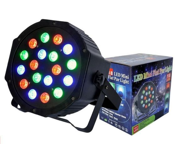Proiector,aparat PAR LED,18 led RGB x 1W,efecte club,joc lumini DMX