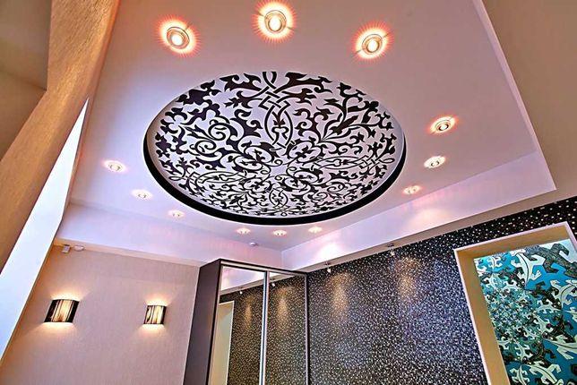 Натяжной потолок от 1200 тг+дизайн. Натяжные потолки PREMIUM качества