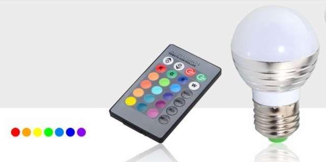 Bec LED RGB telecomanda lumina ambientala colorata 5W