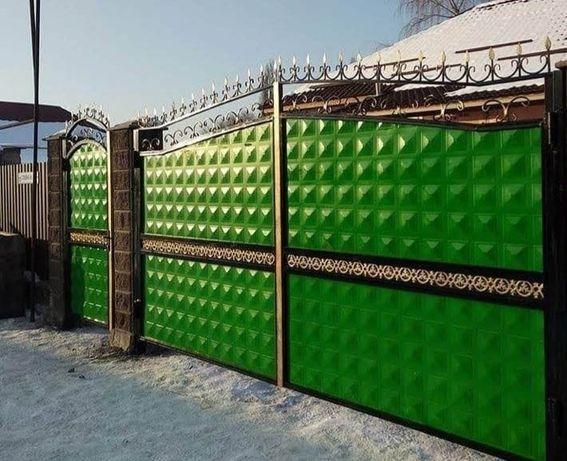 Ворота заборы откатные ворота выдвижные ворота сварочные работы любой