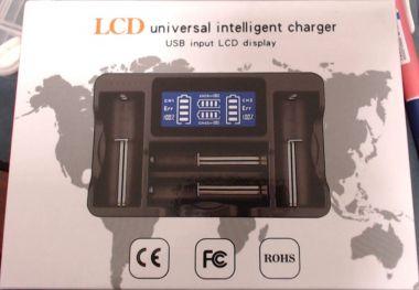Incarcator universal pt. acum., 4x Li-ion, Li-Fe, Ni-Mh, cu LCD - SN4