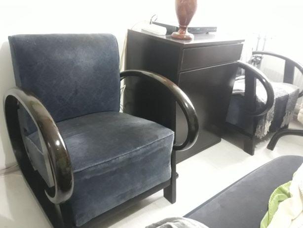 Fotolii vechi stil Art Deco culoare neagra