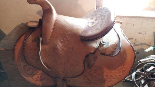 Ертоқым. Седло для лошади.