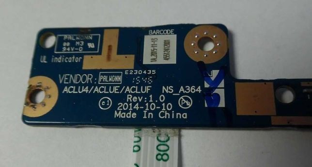 Lenovo G50-80 Power Button Board with Cable NS_A364 NBX00019V00
