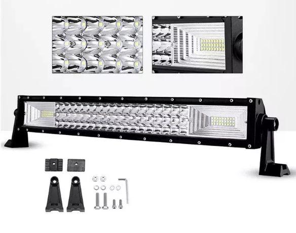 55 СМ. 324W Мощен 7D 7Д Led Bar Лед Диоден Бар Прожектор 12V 24V