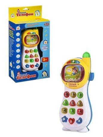 Детская музыкальная игрушка Умный Телефон. Обучающая развивающая.