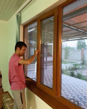 Пластиковые окна двери витражи в Таразе