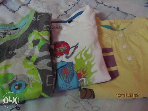 2 броя Детски тениски за 5-6 години