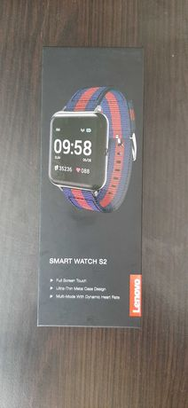 Продавам smart часовник lenovo s 2 smart WATCH BLACK