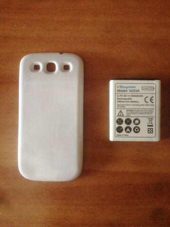 Baterie de 6000 mAh cu capac pentru Samsung Galaxy S3