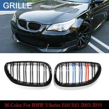 Бъбреци с двойни ребра черен лак с M декорация за BMW серия 5 E60, E61