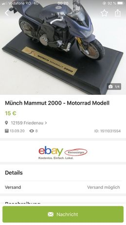 Macheta motocicleta Much Mammut 2000