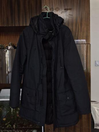 Зимна шуба с естествен гъши пух