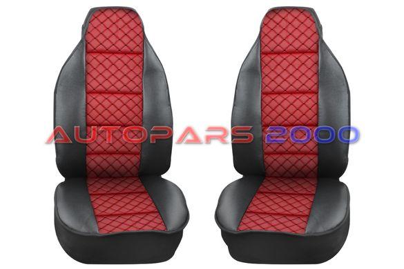 Калъфи за предни седалки тип Масажор S STYLE / Черно с червено