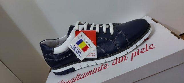 Adidasi barbati model YANIS piele Naturala 100% produs Românesc