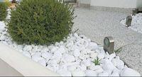 Piatra marmura alba neagra thasos decorativa curte gradina flori