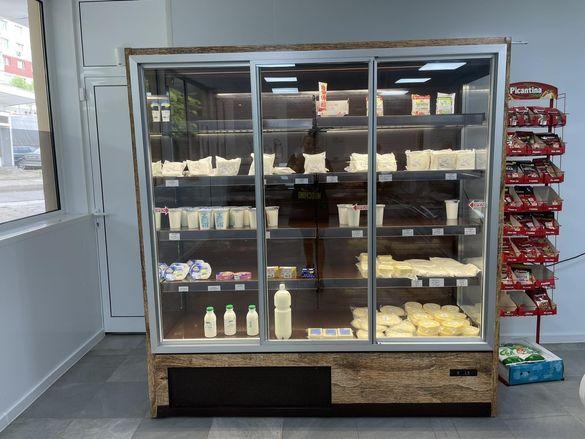 Крайстенна хладилна витрина с вграден агрегат
