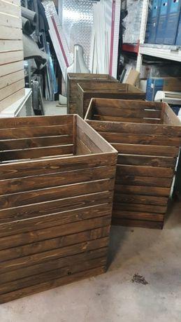 Дървен промо кош (различни цветове)