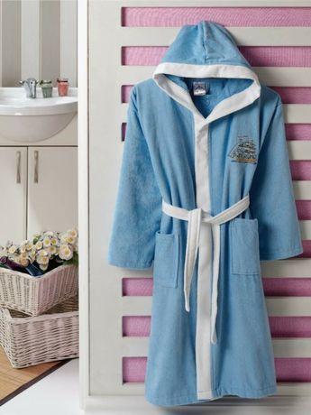 Хавлиени халати с кадифено покритие  за 12,14 и 16г. 100%памук