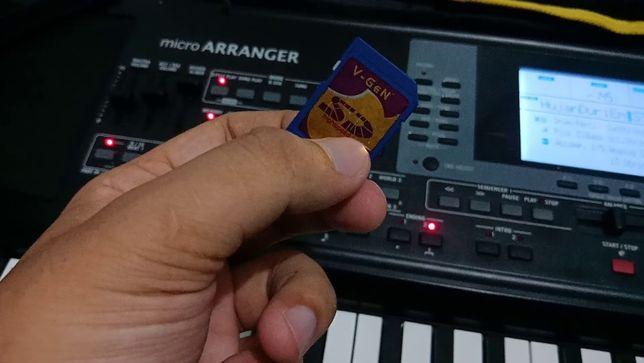 Card SD cu ritmuri pentru orga Korg