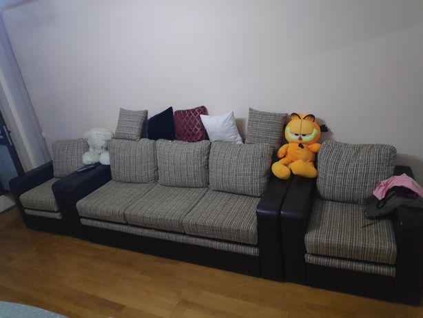 Canapea extensibila cu 2 fotolii