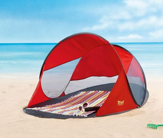 Cort de plajă POP-UP, umbrar, factor de protectie solara UV40 - NOU