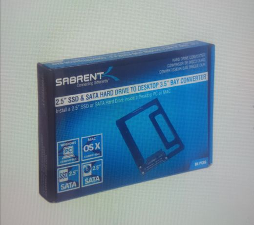 Sabrent 2.5'' SSD / HDD in 3.5
