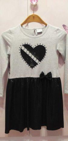 Детска спортно-елегантна рокля 134 см