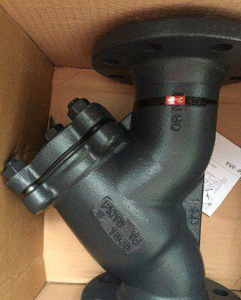 Задвижка-Фильтр сетчатый чугун FVF Ду80 Ру16 фланцевый