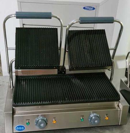 Contact grill dublu striat / sandwich toaster, 230V, 4.4 KW, ca nou